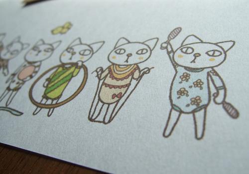 和紙風合いの紙質がイラストの可愛らしさを引き立たせてくれます♪