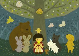 星咲く木の下で