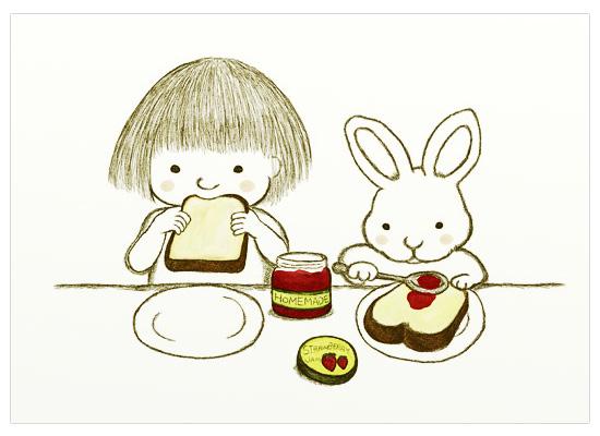 イギリスパンと苺ジャム