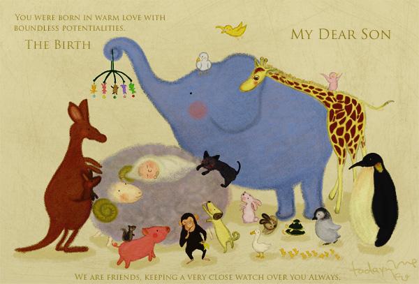 出産祝い用のカード
